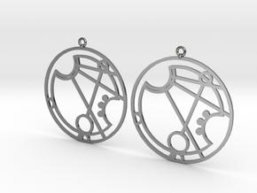 Marissa - Earrings - Series 1 in Fine Detail Polished Silver