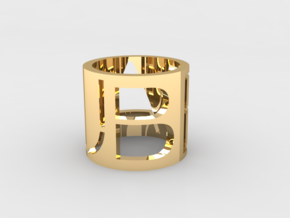 Beau Brand Ring in 14K Yellow Gold