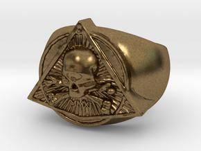 Saint Vitus Ring Size 15 in Natural Bronze
