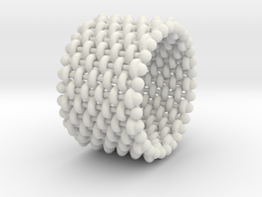 woven ring 4 in White Strong & Flexible