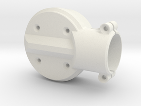 Motor-mount-XS-top in White Natural Versatile Plastic