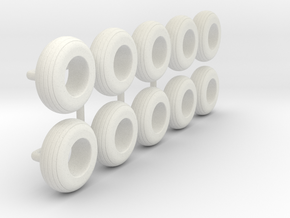 1/64 9.5L-15 Implement Tire in White Natural Versatile Plastic