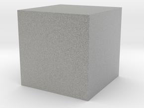 A Cube in Metallic Plastic