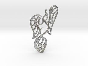Openwork phoenix Pendant in Natural Silver