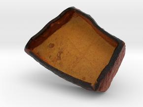 Tablet2, hollowed version in Full Color Sandstone