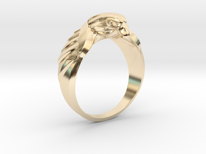 Eagle Ring 19mm in 14k Gold Plated Brass