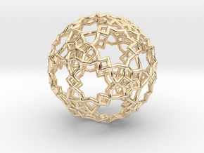 Sphere-132 in 14k Gold Plated Brass