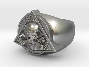 Saint Vitus Ring Size 5 in Natural Silver