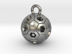 SOCCER BALL B in Natural Silver