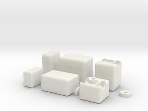 1x2x3 Mirror Cube in White Natural Versatile Plastic