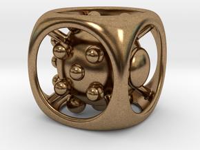 Dice No.1 L (balanced) (3.6cm/1.42in) in Natural Brass