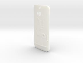 Htc One M8 Case Cavalo in White Processed Versatile Plastic