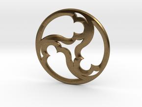 Triskele Pommel Marker in Natural Bronze