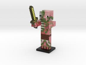 Zombie Pigman- Gold Sword in Full Color Sandstone