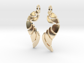 Bones Earrings Set in 14k Gold Plated Brass