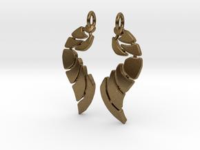 Bones Earrings Set in Natural Bronze