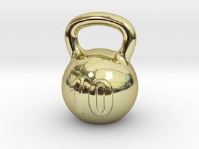 KETTLEBELL EARRING in 18k Gold Plated Brass