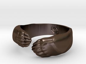 Big Bear Hug ring in Polished Bronze Steel