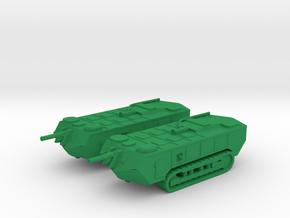 1/144 WW1 Saint Chamond tank in Green Strong & Flexible Polished