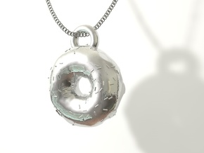 Donut Pendant  in Stainless Steel