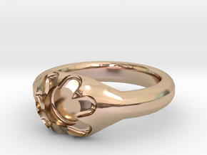 Scalloped Ring (size 7.5) in 14k Rose Gold Plated