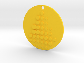 Parametric Circles in Yellow Processed Versatile Plastic