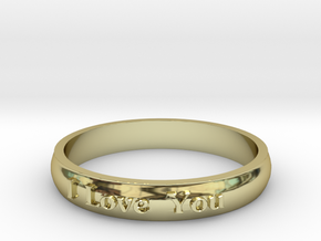"Ring 'I Love You' - 16.5cm / 0.65"" - Size 6 in 18k Gold"