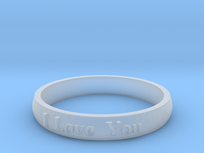 "Ring 'I Love You' - 16.5cm / 0.65"" - Size 6 in Smooth Fine Detail Plastic"