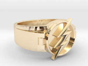 V2 Flash Ring Size 11.5 21.08mm in 14K Yellow Gold