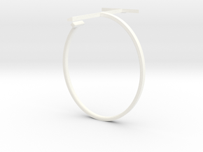 a r c h i t e c t s series - Bracelet T-Square in White Strong & Flexible Polished