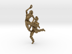 Dance LOVE Pendant-Earring in Natural Bronze