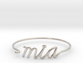 MIA Wire Bracelet (Miami) in Rhodium Plated Brass