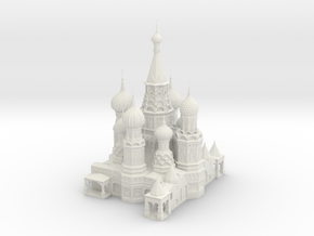 St Basils Cathedral  in White Natural Versatile Plastic