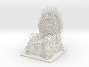 Iron Throne in White Natural Versatile Plastic