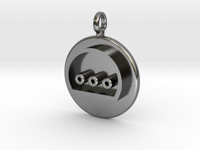 N64 Hers Controller Pendant in Polished Silver