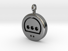 N64 His Controller Pendant in Polished Silver