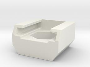 Camera Hotshoe for Tripod Mount in White Natural Versatile Plastic