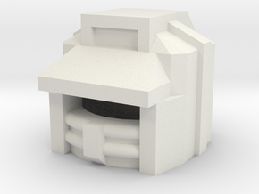 Robohelmet: X-Target in White Strong & Flexible