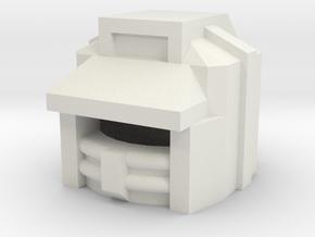 Robohelmet: X-Target in White Natural Versatile Plastic