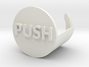 Push To Start Shower in White Natural Versatile Plastic