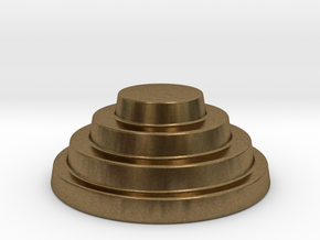 Devo Hat   15mm diameter miniature / NOT LIFE SIZE in Natural Bronze