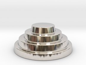 Devo Hat   15mm diameter miniature / NOT LIFE SIZE in Rhodium Plated Brass