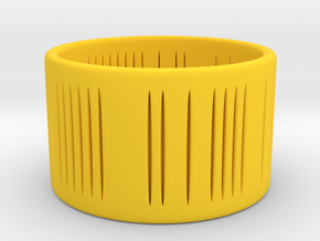 Slits Bracelet in Yellow Processed Versatile Plastic: Small