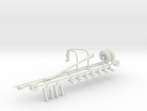 1/64 Hay Rake Frame Kit in White Natural Versatile Plastic