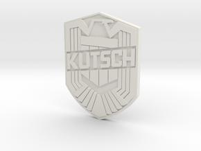 Kutsch Badge in White Natural Versatile Plastic