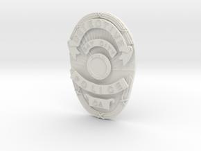 Starsky Badge in White Natural Versatile Plastic