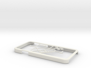 Singapore MRT network map iPhone 6 case in White Natural Versatile Plastic