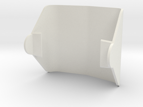 Camera Visor in White Natural Versatile Plastic