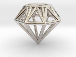 Diamond pendant   necklace   bracelet in Platinum
