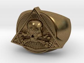 Saint Vitus Ring Size 8 in Natural Bronze